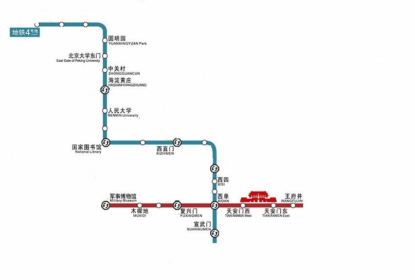 北京地铁王府井车站结构图